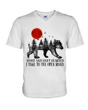 I Take To The Open Road V-Neck T-Shirt thumbnail