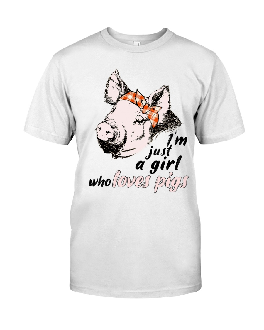 Just A Girl Who Loves Pigs Classic T-Shirt