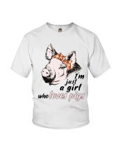 Just A Girl Who Loves Pigs Youth T-Shirt thumbnail