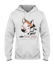 Just A Girl Who Loves Pigs Hooded Sweatshirt thumbnail