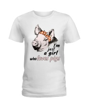Just A Girl Who Loves Pigs Ladies T-Shirt thumbnail