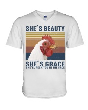She's Beauty V-Neck T-Shirt thumbnail