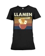 Llamen Funny Premium Fit Ladies Tee thumbnail