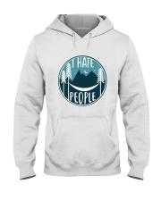 T Hate People Hooded Sweatshirt front