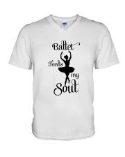 Ballet Feeds My Soul V-Neck T-Shirt thumbnail