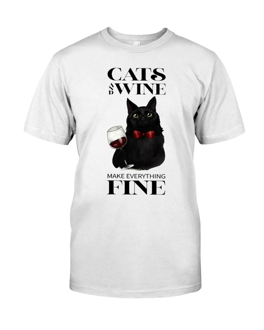 Cats And Wine Classic T-Shirt