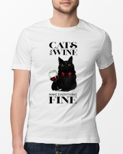 Cats And Wine Classic T-Shirt lifestyle-mens-crewneck-front-13