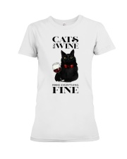 Cats And Wine Premium Fit Ladies Tee thumbnail