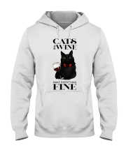 Cats And Wine Hooded Sweatshirt thumbnail