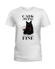 Cats And Wine Ladies T-Shirt thumbnail