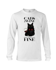 Cats And Wine Long Sleeve Tee thumbnail