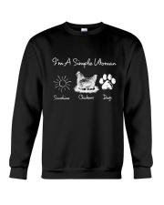 I'm A Simple Woman Crewneck Sweatshirt thumbnail