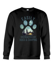 Dogs And Camping Crewneck Sweatshirt thumbnail