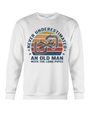 An Old Man With The Long Pipes Crewneck Sweatshirt thumbnail