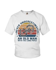An Old Man With The Long Pipes Youth T-Shirt thumbnail
