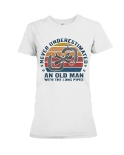An Old Man With The Long Pipes Premium Fit Ladies Tee thumbnail