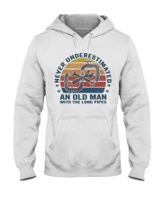 An Old Man With The Long Pipes Hooded Sweatshirt thumbnail