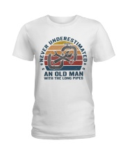 An Old Man With The Long Pipes Ladies T-Shirt thumbnail