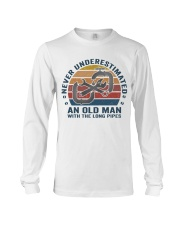 An Old Man With The Long Pipes Long Sleeve Tee thumbnail