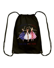 It's The Most Wonderful Time Drawstring Bag thumbnail