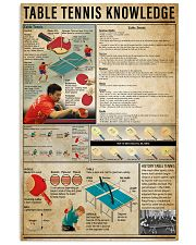 Table Tennis Knowledge 11x17 Poster front