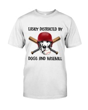Dogs And Baseball Classic T-Shirt front