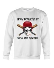 Dogs And Baseball Crewneck Sweatshirt thumbnail