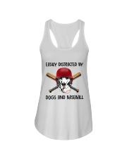 Dogs And Baseball Ladies Flowy Tank thumbnail