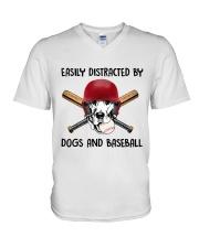 Dogs And Baseball V-Neck T-Shirt thumbnail
