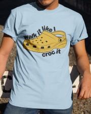 Walk It Like Croc It Classic T-Shirt apparel-classic-tshirt-lifestyle-28