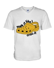 Walk It Like Croc It V-Neck T-Shirt thumbnail