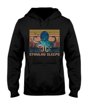 Cthulhu Sleeps Hooded Sweatshirt thumbnail