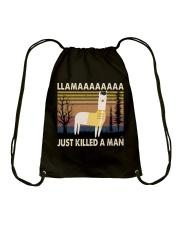 Llama Just Killed A Man Drawstring Bag thumbnail