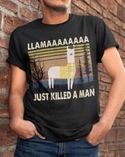 Llama Just Killed A Man Classic T-Shirt apparel-classic-tshirt-lifestyle-26