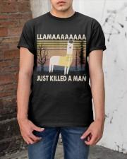 Llama Just Killed A Man Classic T-Shirt apparel-classic-tshirt-lifestyle-31