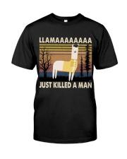 Llama Just Killed A Man Premium Fit Mens Tee thumbnail