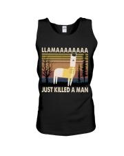 Llama Just Killed A Man Unisex Tank thumbnail