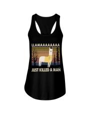 Llama Just Killed A Man Ladies Flowy Tank thumbnail