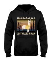 Llama Just Killed A Man Hooded Sweatshirt thumbnail