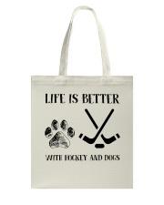 Hockey And Dogs Tote Bag thumbnail