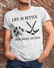 Hockey And Dogs Classic T-Shirt apparel-classic-tshirt-lifestyle-26