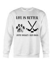 Hockey And Dogs Crewneck Sweatshirt thumbnail