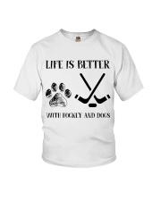 Hockey And Dogs Youth T-Shirt thumbnail