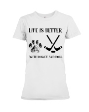 Hockey And Dogs Premium Fit Ladies Tee thumbnail