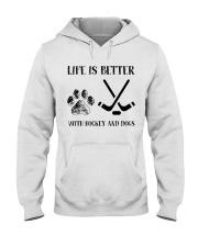 Hockey And Dogs Hooded Sweatshirt thumbnail