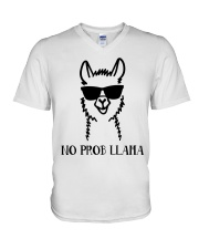 No Prob Llama V-Neck T-Shirt thumbnail