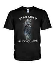 Remember Who You Are V-Neck T-Shirt thumbnail