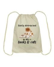 Books And Cats Drawstring Bag thumbnail