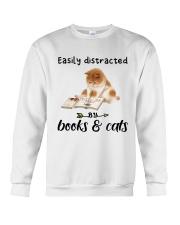 Books And Cats Crewneck Sweatshirt thumbnail
