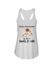 Books And Cats Ladies Flowy Tank thumbnail